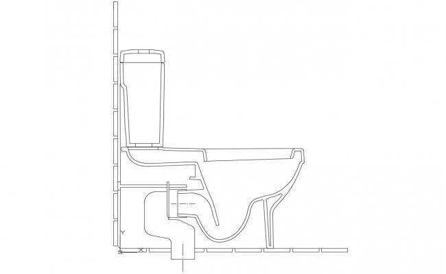 Sanitary Ware Commode Elevation Design 2d AutoCAD Blocks Free download