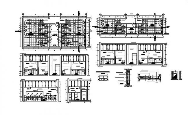 Sanitary layout drawing in AutoCAD file