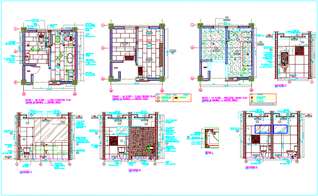 Sanitary detail view plan off toilet for main building dwg file