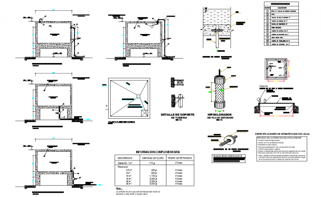 Sanitary facilities in elevated tank plan layout file