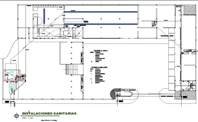 Sanitary house plan detail dwg file