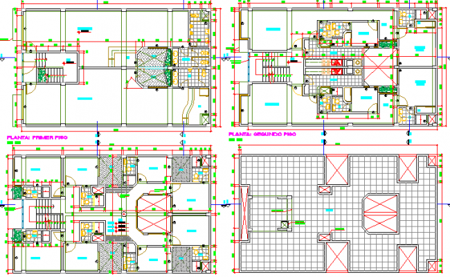 Sanitary installation of all floors of multi-family housing dwg file