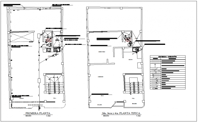 Sanitary installation view of family house plan dwg file