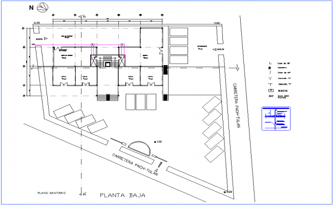 Sanitary installation view of office low floor plan dwg file