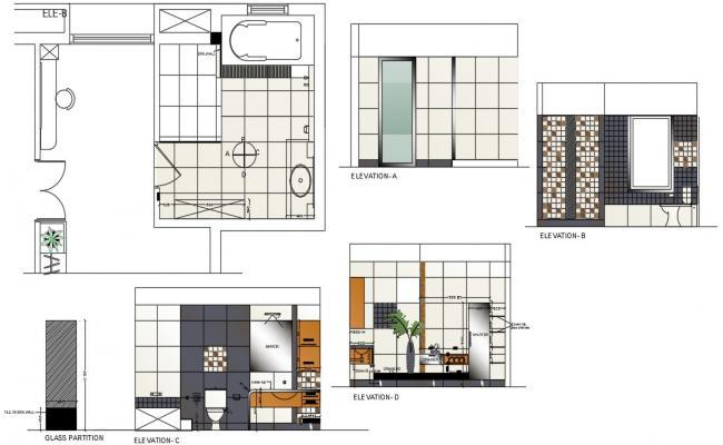 Download Master Bathroom plan in AutoCAD File
