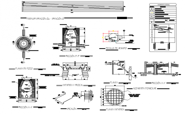 Sanitary sewer system plan autocad file