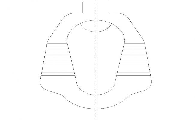 Sanitary toilet detail CAD block layout file in autocad format