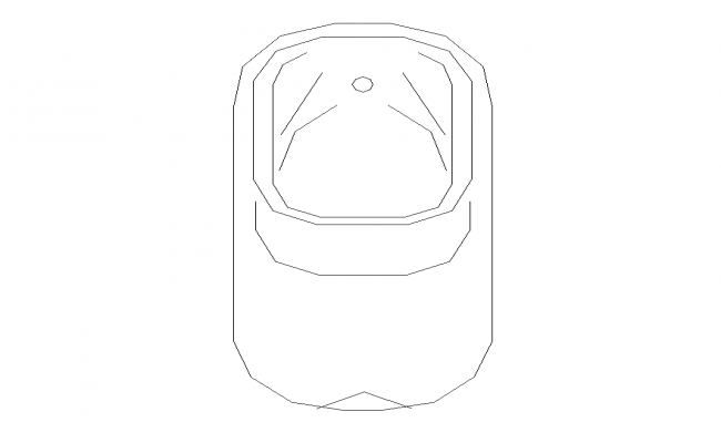 Sanitary toilet detail elevation 2d view layout file