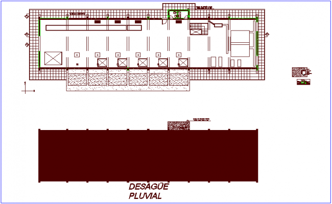 Sanitary view of drain line dwg file for lift project dwg file
