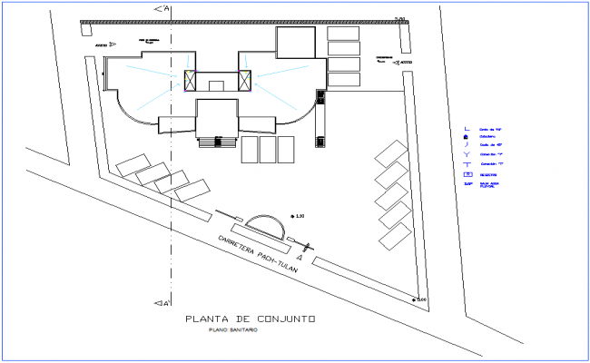 Sanitary view of set plan for office premises dwg file