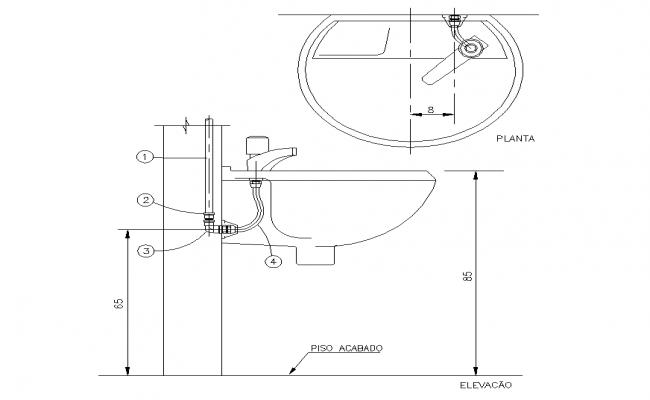 Sanitary wash-basin structure detail CAD blocks 2d view layout autocad file