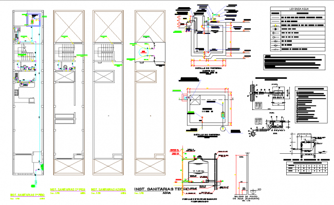 Sanitary water pipe line home plan autocad file