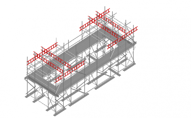Scaffolding layout 3d plan