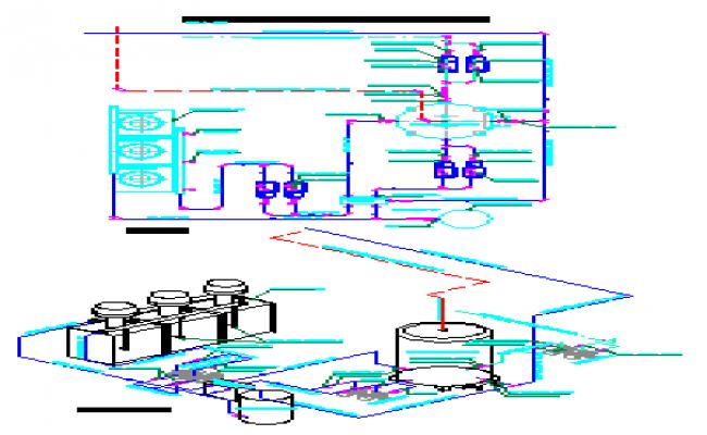 Scheme of gas water heater design drawing