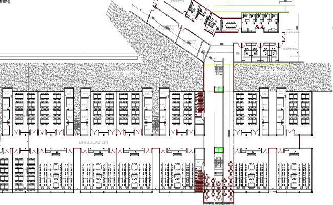 School Architecture Layout and Design dwg file