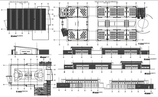 School Building CAD Drawing