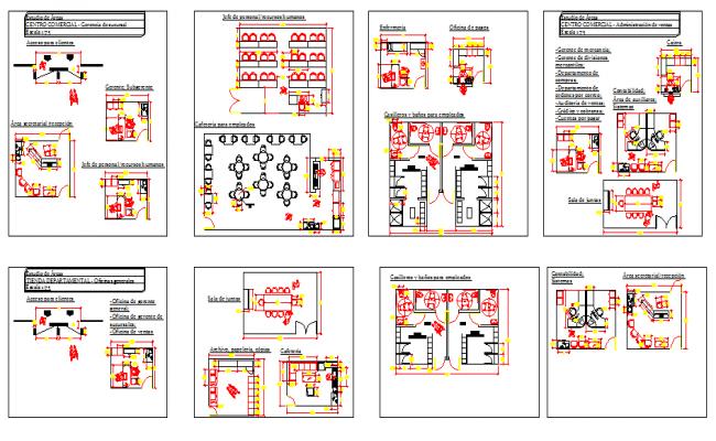 School Room Design in Cad File