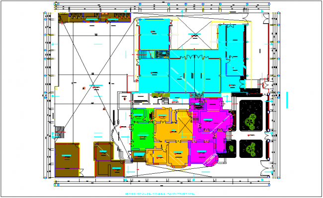 School building plan and design layout dwg file