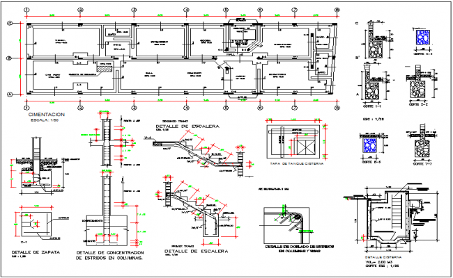 School building plan design view dwg file