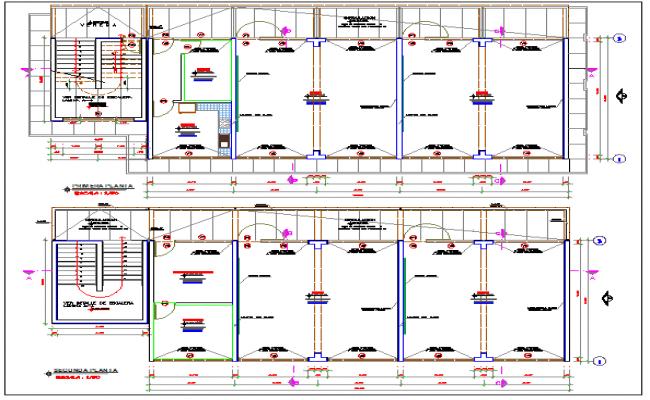 School classroom floor plan with door and window view dwg file