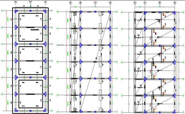 School commercial plan detail dwg file
