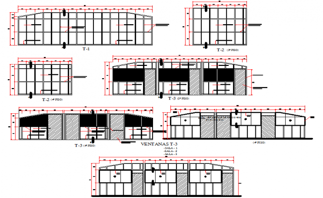 School elevation 3d elevation design dwg file