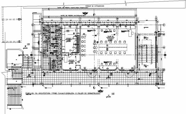 School layout plan dwg file