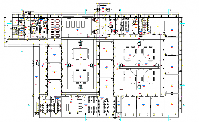 School layout plan dwg file