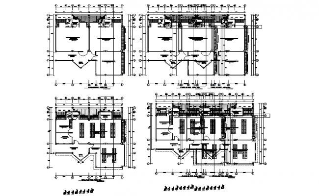 School plan detail dwg file