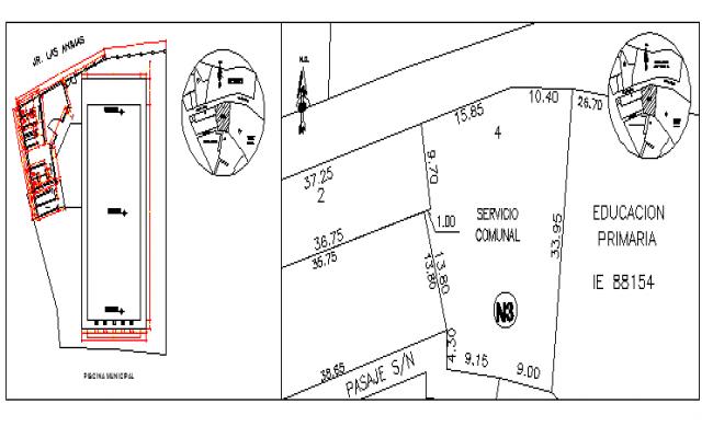 School site plan details dwg file