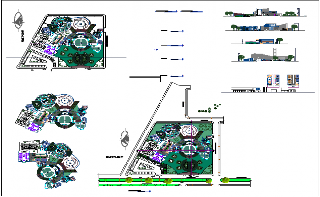 School structure layout dwg file