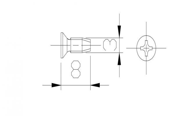 Screw Design In AutoCAD File
