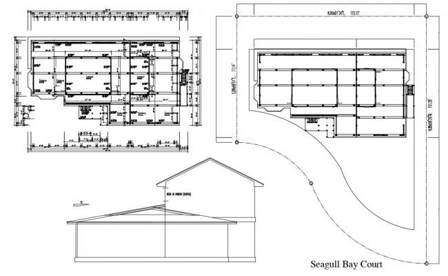 Seagull Bay Court Plan Free DWG File