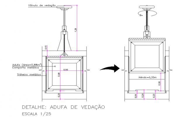 Sealing material plan detail dwg file