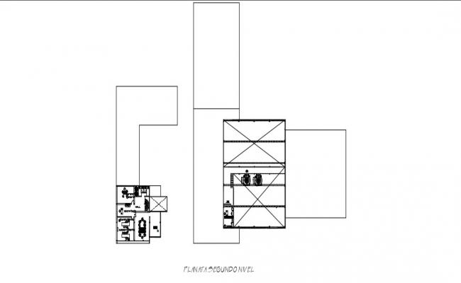 Second Floor Plan In AutoCAD File