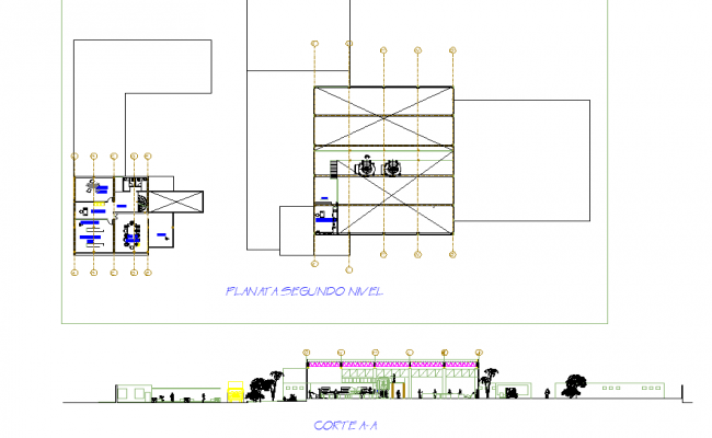 Second floor Food processing plant floor plan detail
