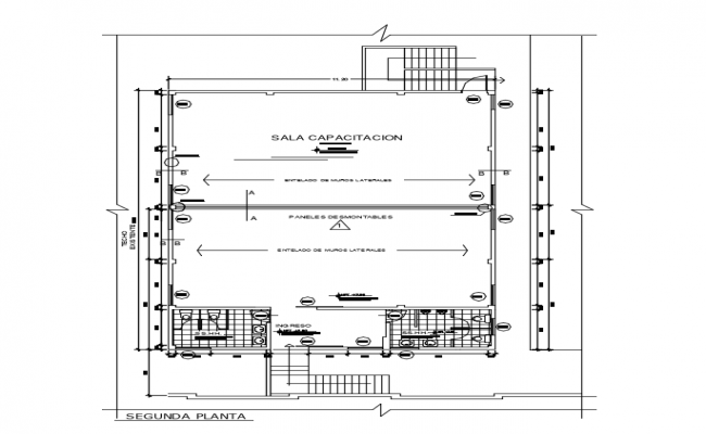 Second floor plan autocad file