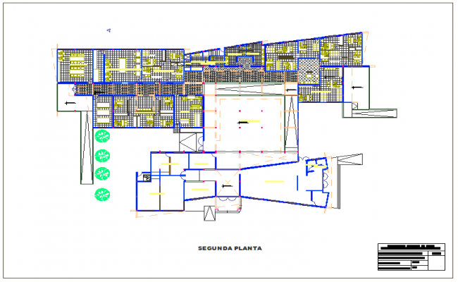 Second floor plan of house dwg file