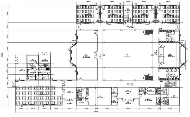 Secondary urban school layout plan details dwg file