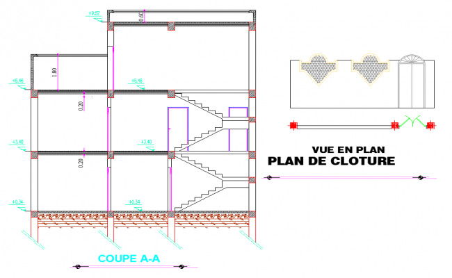 Section A-A' home plan layout file