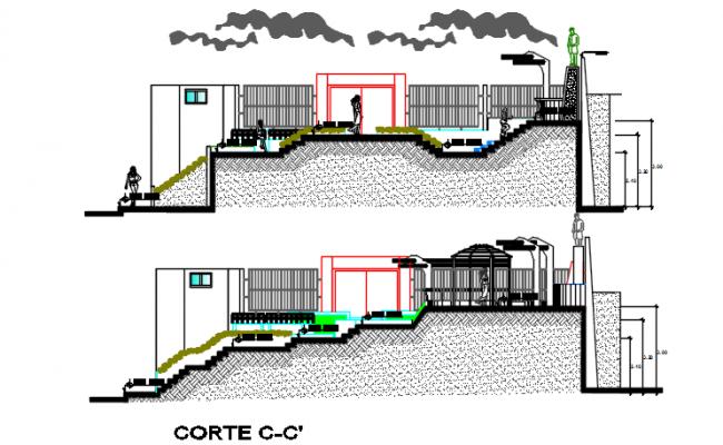 Section C-C'plan detail dwg file