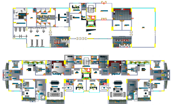 Section Details of High Rise Building Project dwg file