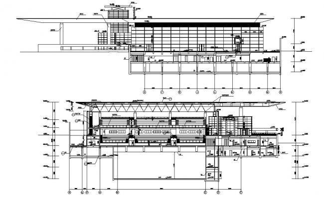 Section Drawing of Commerce Building CAD File