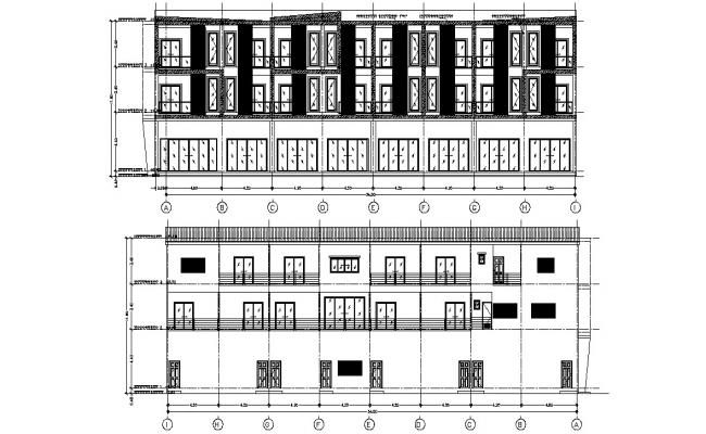 Section Elevation Of Building AutoCAD File Free Download