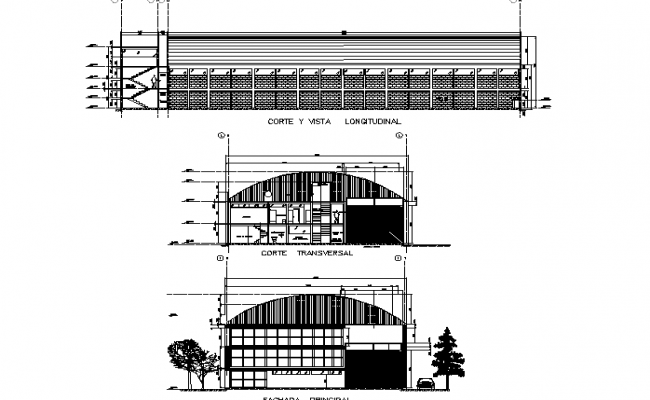 Section Industry project plan detail dwg file