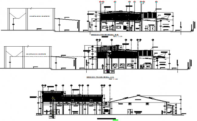 Section Packing for sugar building plan detail dwg file
