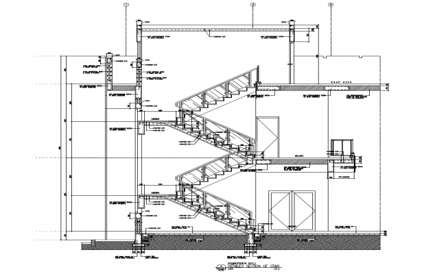 Section Plan Of Staircase