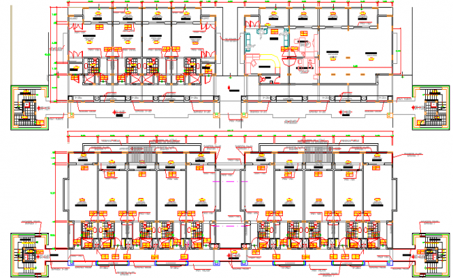 Section Plan of Arc Club House Architecture Layout dwg file