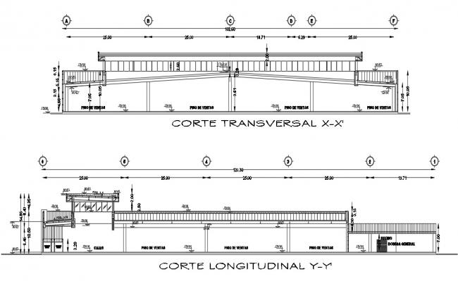 Section Store Plan CAD File