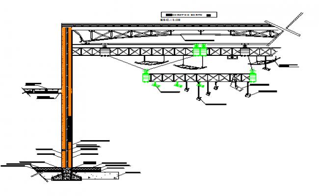 Section TV Studio Installation DWG file